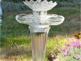 Making Garden Art From Old Dishes Diy Birdbath From Recycled Materials by Susan Scovil Birdbaths