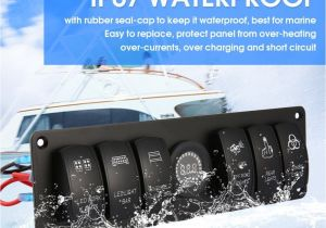 Marine Cabin Lights Aliexpress Com Buy 6 Gang 12v 24v Rocker Switch for Car Marine