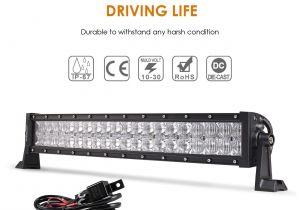 Marine Light Bars Amazon Com Auxbeam 22 Inch Led Light Bar Curved 120w Led Off Road