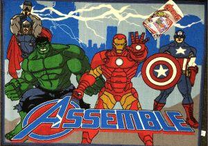 Marvel Avengers area Rug Marvel Avengers Official Licenced Kids Childrens Rug Mat Bedroom