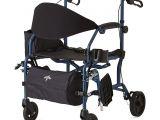 Medline Combo Rollator Transport Chair Amazon Com Medline Combination Rollator Transport Chair Blue
