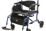 Medline Combo Rollator Transport Chair Medline Combination Rollator Transport Wheelchair In Blue