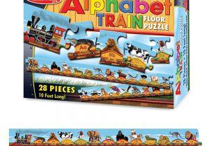 Melissa and Doug Floor Puzzles Alphabet Train Floor Puzzles