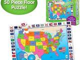 Melissa and Doug Floor Puzzles Amazon Com the Learning Journey Jumbo Floor Puzzles Usa Map