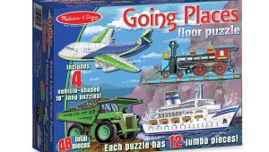 Melissa and Doug Floor Puzzles Melissa Doug Going Places Floor Puzzle 48 Piece Puzzle Pieces