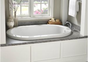 Menards Bathtub Drain Parts Eljer Ridgefield 58 Inch by 38 Inch Oval soaking Tub