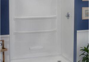 "Menards Bathtub with Surround Lyons Elite™ 60"" X 32"" X 69"" Shower Wall at Menards"