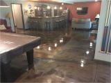 Metallic Epoxy Floor Metallic Marble Epoxied Basement Floor In Peoria Illinois