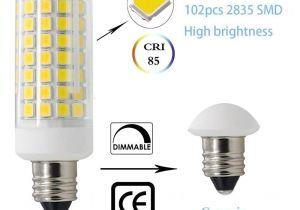 Mini Light Bulb socket 2 Packe11 Led Bulbs All New 102leds Mini Dimmable Candelabra