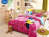 Minnie Mouse Bedroom Set Full Size Disney Minnie Girls 100 Cotton Bedding Set Queen Single Size Duvet