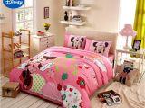 Minnie Mouse Comforter Set Full Size Disney Minnie Girls 100 Cotton Bedding Set Queen Single Size Duvet
