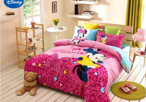 Minnie Mouse Comforter Set Twin Size Disney Minnie Girls 100 Cotton Bedding Set Queen Single Size Duvet