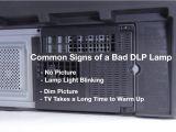 Mitsubishi Wd 60735 Lamp Light Red Mitsubishi Dlp Tv Repair Bad Dlp Lamp How to Fix Common Dlp Lamp