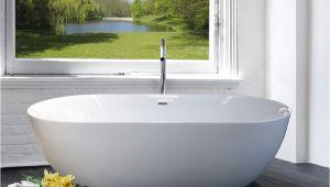 Modern Acrylic Bathtubs Freestanding Bathtub Modern Design In White Acrylic