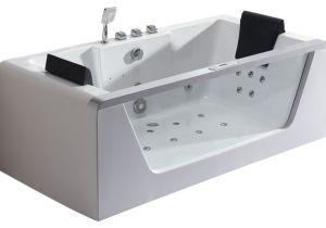 Modern Whirlpool Bathtubs Eago Am196 6 Clear Rectangular Whirlpool Bath Tub for Two