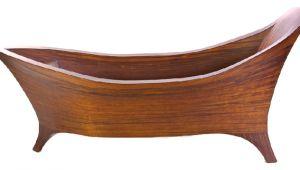 Modern Wood Bathtubs Modern soaking Walk In Handcrafted Wood Bathtub