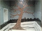 Mosaic Tile Bathtub Surround Ideas Glass Tile Mosaic Tree Shower Surround Contemporary