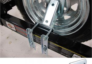 Motorcycle Tire Rack for Trailer Fulton Hi Mount Spare Tire Carrier Fits 4 and 5 Lug Wheels