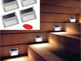 Mountable solar Lights 3led solar Powered Wall Light 3 Led Light Wall Mount Garden Path