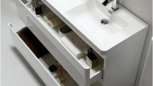 """Narrow Bathtubs Canada tona 48"""" Narrow Gloss White Modern Bathroom Vanity Double"""