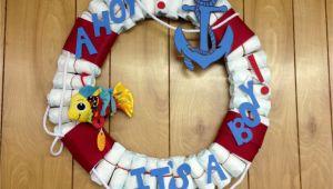Nautical Lifesaver Decor Diaper Life Saver Decoration Ahoy It S A Boy Baby Shower Boy