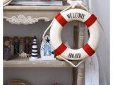 Nautical Lifesaver Decor New Welcome Aboard Foam Nautical Life Lifebuoy Ring Boat Wall