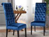 Navy Velvet Parsons Chair Chair Armchair Blue Wingback Dining Chair Navy Blue Velvet
