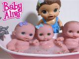 Newborn Baby Girl Bathtub Baby Alive Jenna Bathes & Helps Bathe 3 Lil Cutesies Baby