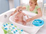 Non Plastic Baby Bathtub New Convenient Newborn to toddler Bath and Shower Tub