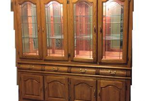Oak China Cabinets For Sale Solid Oak China Cabinet Chairish