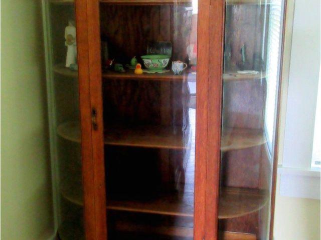 Oak Curio Cabinets For Sale Antique Oak Curio Cabinet Flat Glass