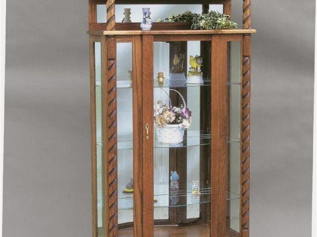 Oak Curio Cabinets For Sale Unfinished Oak Curio Cabinet Mf Cabinet