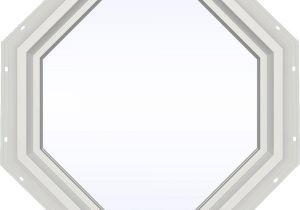 Octagon Window Interior Trim Kit Jeld Wen 23 5 In X 23 5 In V 4500 Series White Vinyl Fixed Octagon
