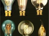 Old Fashioned Light Bulbs B22 Bayonet Filament Vintage Edison Style Squirrel Cage Lamp Light