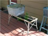 Old Metal Bathtubs for Sale Vintage Wash Tub Stand Metal Collapsible by Redriverantiques