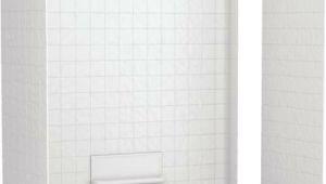 One Piece Bathtub Wall Surround Swan Veritek Swantile Tub Wall Surround Three Piece White