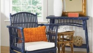 Orange and Blue Accent Chair Love This Room with Unusual Navy Bamboo Rattan Chair and