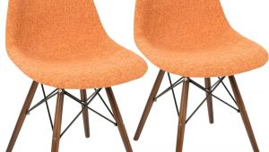 Orange and Grey Accent Chair Lumisource Brady Duo orange Grey and Espresso Accent Chair
