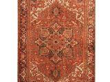 Oriental area Rugs 9×12 Herat oriental Persian Hand Knotted 1900s Antique Heriz Wool Rug 8