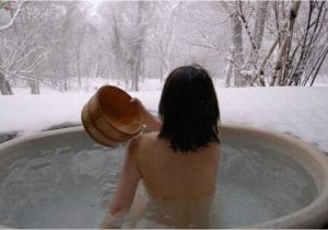 Outdoor Bathtub Winter Hot Tub Snow Machine 9 totally Unique soaking Spots