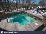 Outdoor Bathtub Winter Jaccuzi Stock S & Jaccuzi Stock Alamy