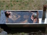 Outdoor Fireplace Bathtub Ox & Monkey soak Wood Fired Hot Tub