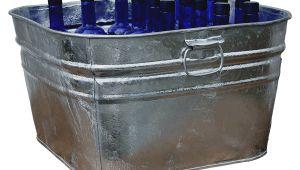 Outdoor Galvanized Bathtub Square Galvanized Tub Metal Wash Tub