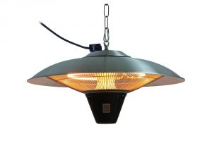 Outdoor Heat Lamp Rental Fire Sense Gunnison 1500 Watt Aluminum Hanging Halogen Patio Heater