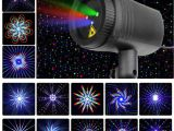 Outdoor Laser Lights for Sale Christmas Stars Laser Light Shower 24 Patterns Projector Effect