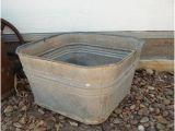 Outdoor Metal Bathtub Galvanized Planter