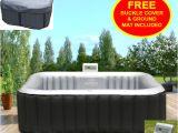 Outdoor Round Bathtub Mspa Outdoor Garden Portable Heated Inflatable Hot Tub