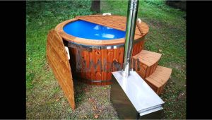 Outdoor Wood Bathtub Outdoor Spa Hot Tub with External Wood Burner Fiberglass