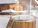 Outdoor Wooden Bathtub Wooden Hot Tub Outdoor Bath Barrel Jacuzzi Garden Swimming