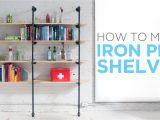 Overhead Cigarette Racks How to Make Iron Pipe Shelves Youtube